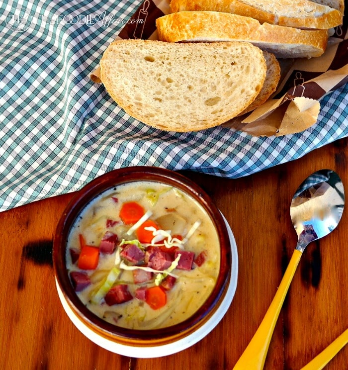 Corned Beef and Cabbage Chowder - The Foodie Affair