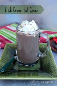 Homemade Irish Cream with Hot Cocoa - The Foodie Affair