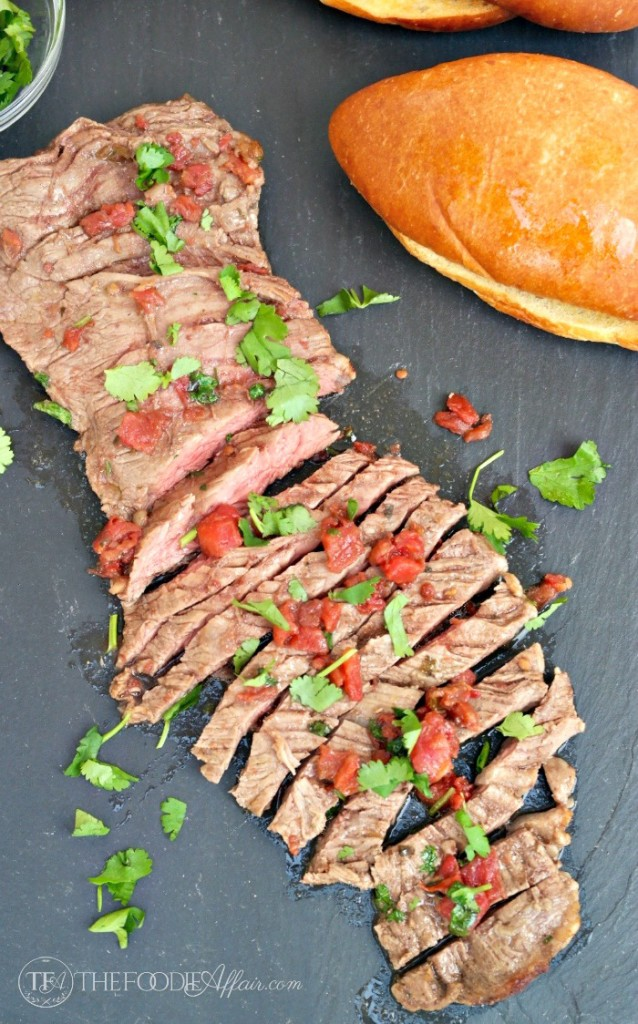 Mexican Style Steak Sandwich - The Foodie Affair