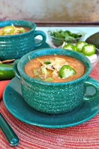 Slow Cooker Chicken Tortilla Soup - The Foodie Affair
