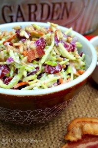 Broccoli Slaw Lightened Up - The Foodie Affair