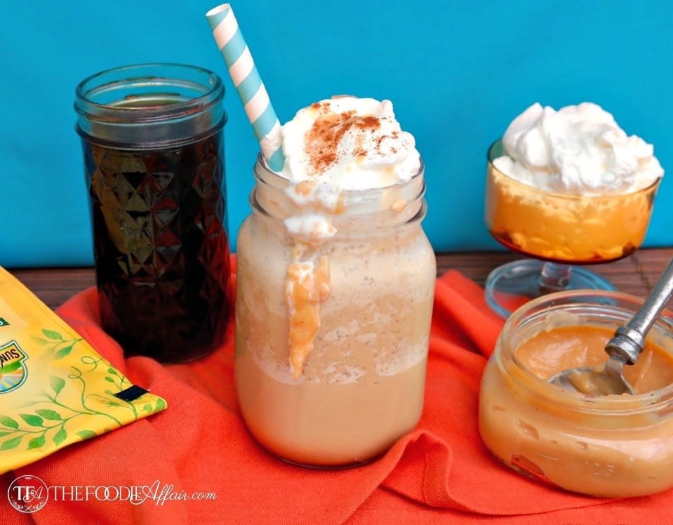 Frappe coffee drink in mason jars
