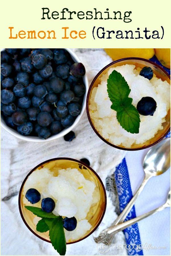 Lemon Ice (Granita) - The Foodie Affair