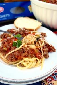 Barilla® Spaghetti with San Marzano Tomato & Meat Sauce - The Foodie Affair