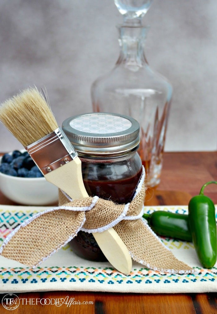 Blueberry Bourbon Barbecue Sauce - The Foodie Affair