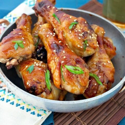 Maple Glazed Chicken on a serving dish