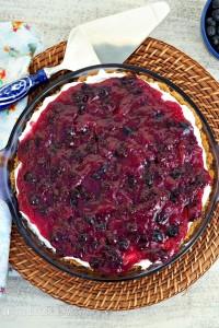 No Bake Blueberry Cream Cheese Pie