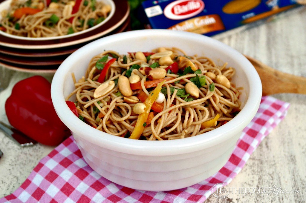 Whole Wheat Pasta with Peanut Sauce - The Foodie Affair