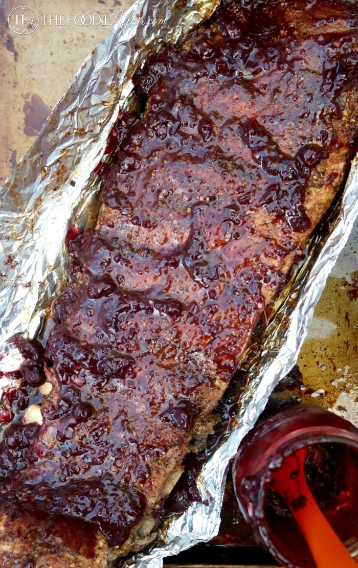 Easy oven baked ribs on a baking sheet