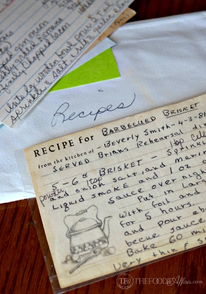 old brisket recipe card