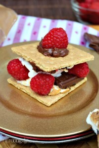 This delicious dessert isn't just for kids! Try Raspberry Smores made with with fresh berries - The Foodie Affair