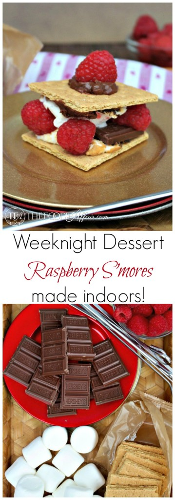 Raspberry S'mores with fresh Raspberries made indoors! The Foodie Affair