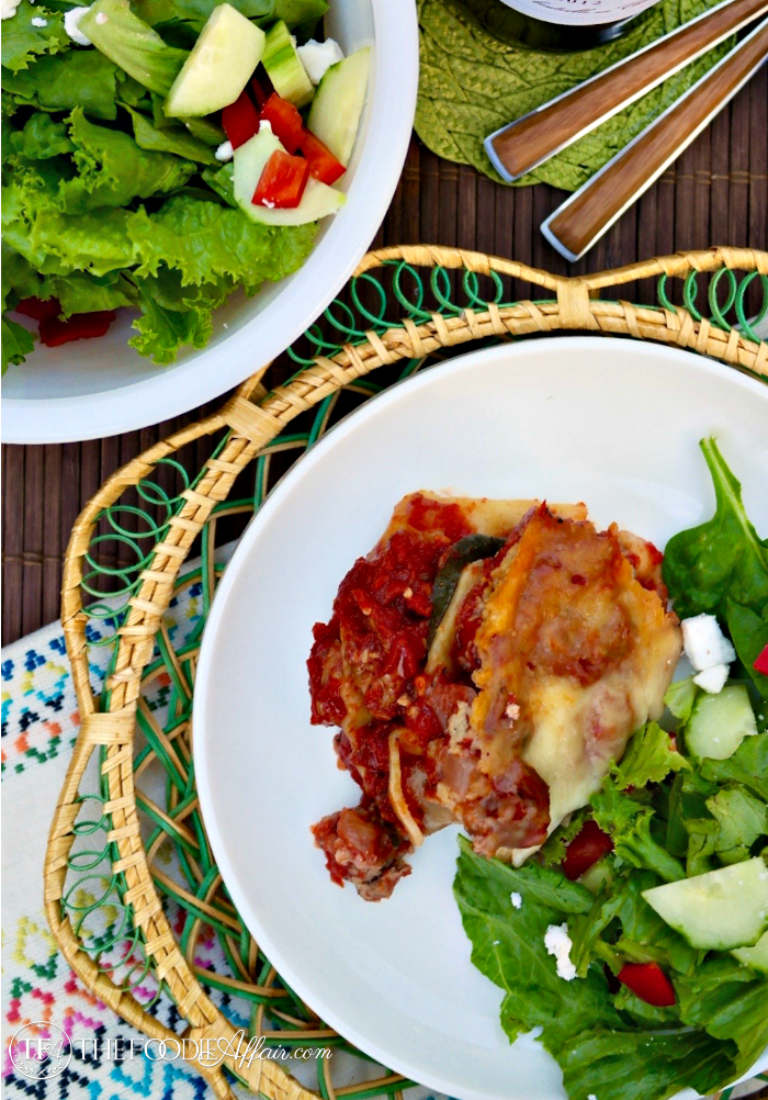 Tasty lasagna made easy with no boil noodles and cooked in a slow cooker - The Foodie Affair