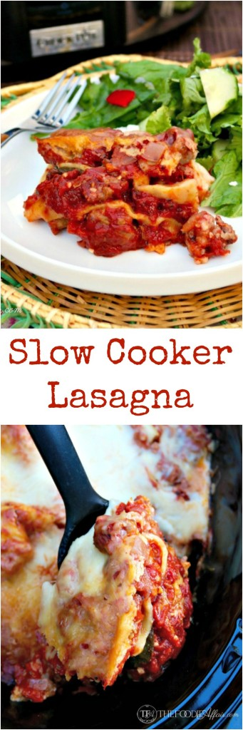 Easy Lasagna made in the slow cooker - The Foodie Affair