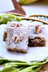 Delicious Vegan Banana Walnut Bars - The Foodie Affair