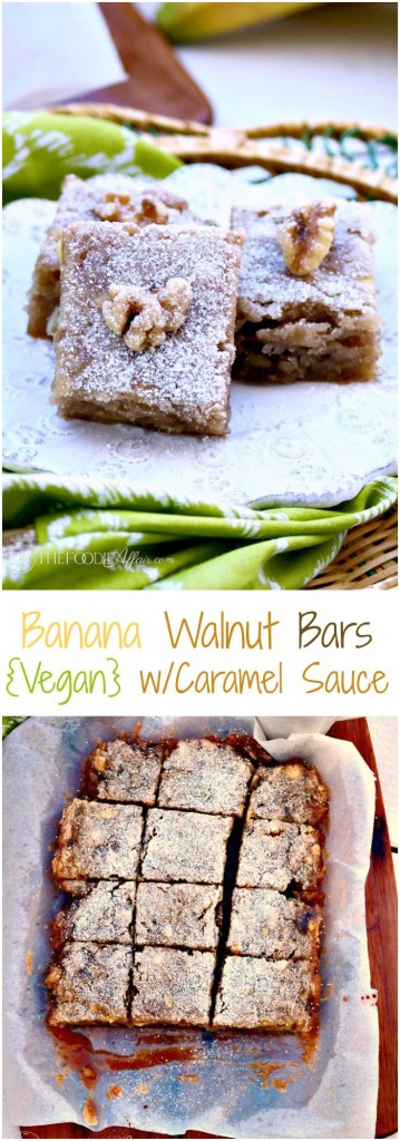 Delicious Vegan Banana Walnut Bars - The Foodie Affair