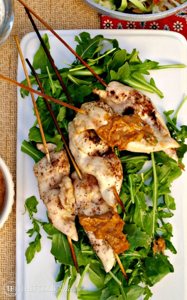 Chicken Satay Skewers with Peanut Sauce - The Foodie Affair
