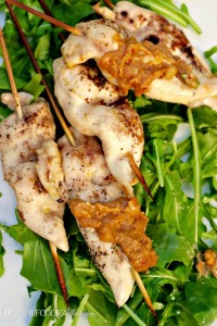 Chicken Skewers with Peanut Sauce - The Foodie Affair