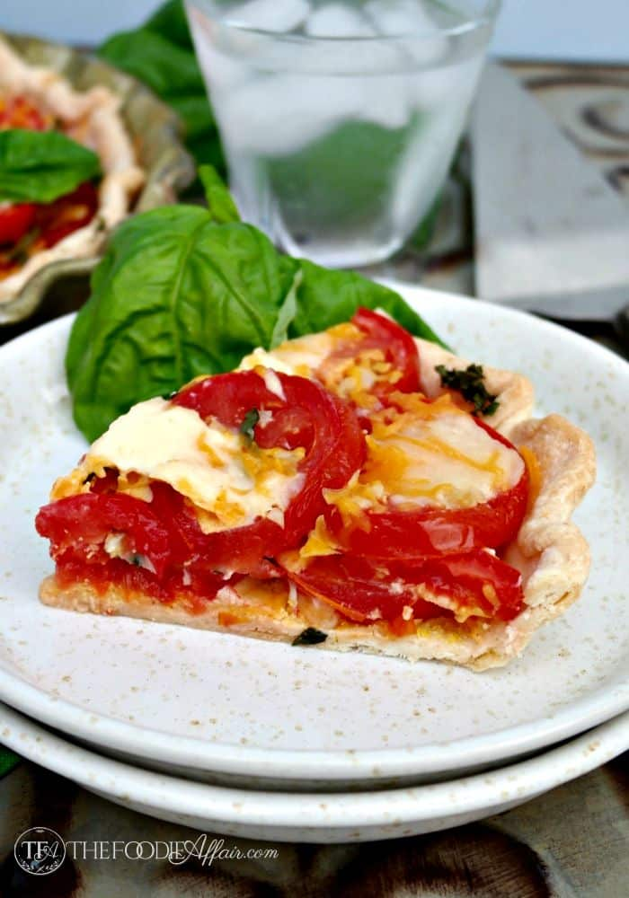 Savory Tomato Pie with Pre-Made Crust #SundaySupper