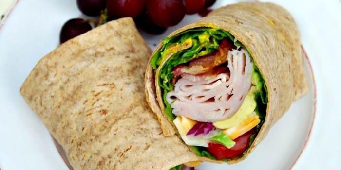 Turkey wrap with honey mustard sauce - The Foodie Affair