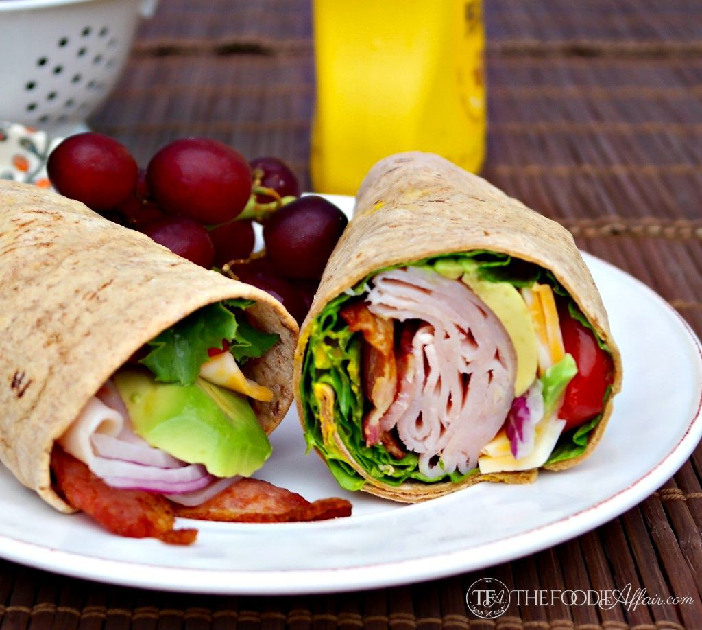 Turkey wrap sandwich with honey mustard sauce - The Foodie Affair