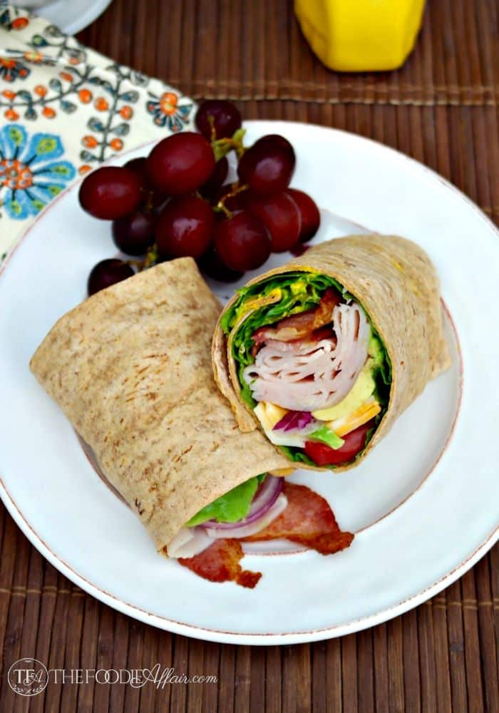 Turkey wrap with honey mustard sauce - The Foodie Affair