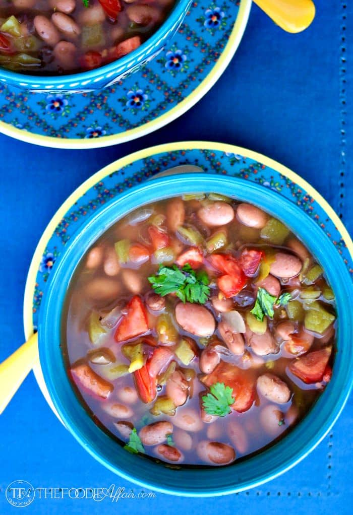 Bowl of Mexican Pinto Beans Crock Pot Recipe