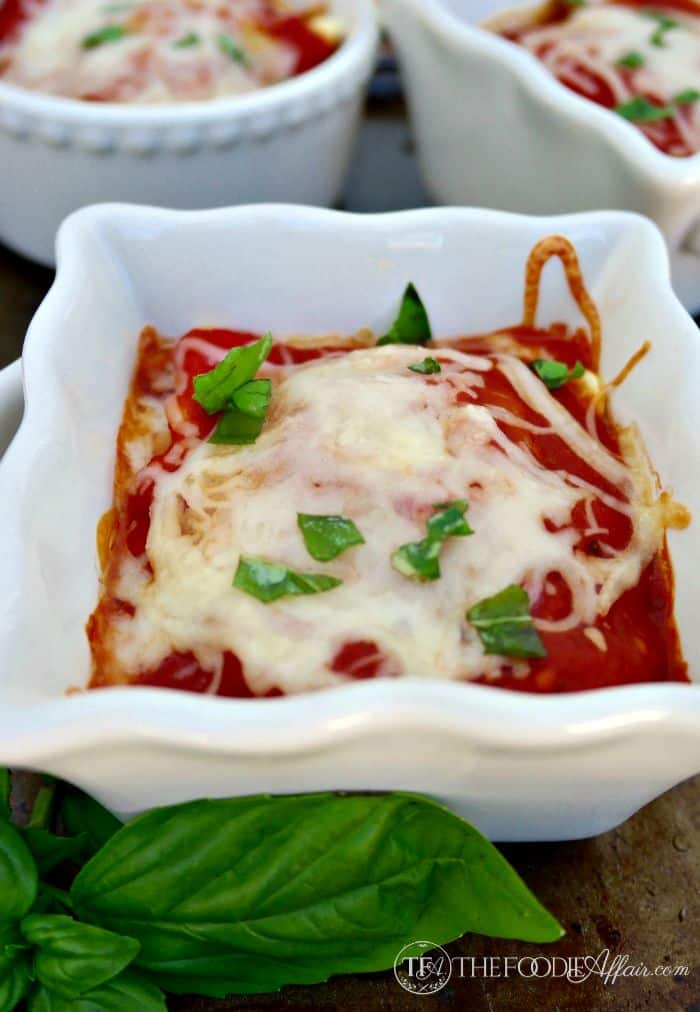 Ravioli Lasagna served in individual ramekins