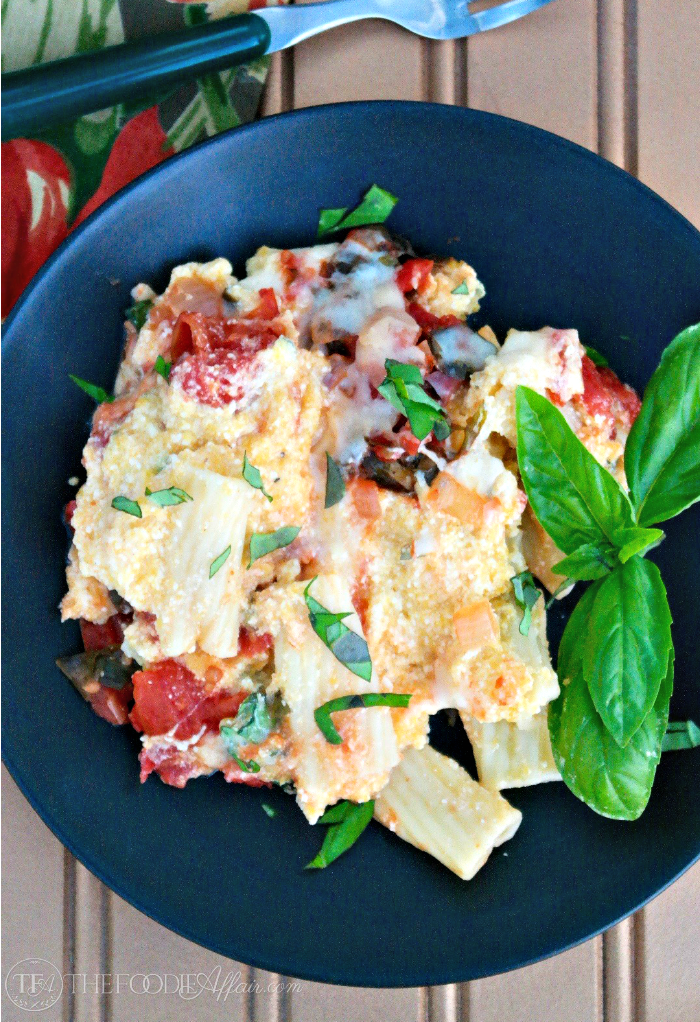 Tasty Butternut Squash Pasta Bake with pureed squash folded into ricotta cheese and sage adding delicious flavor! The Foodie Affair