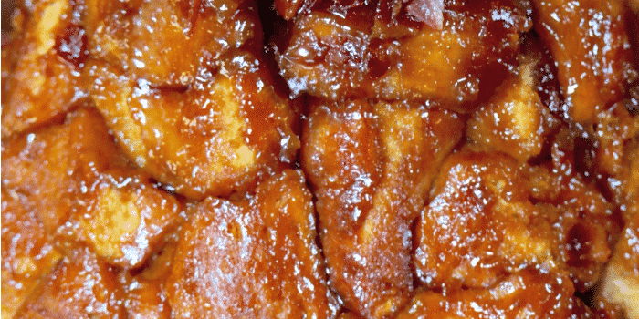 Maple Bacon Monkey Bread oozing with a caramel sticky sauce that is baked with the bread for a delicious sweet treat! The Foodie Affair
