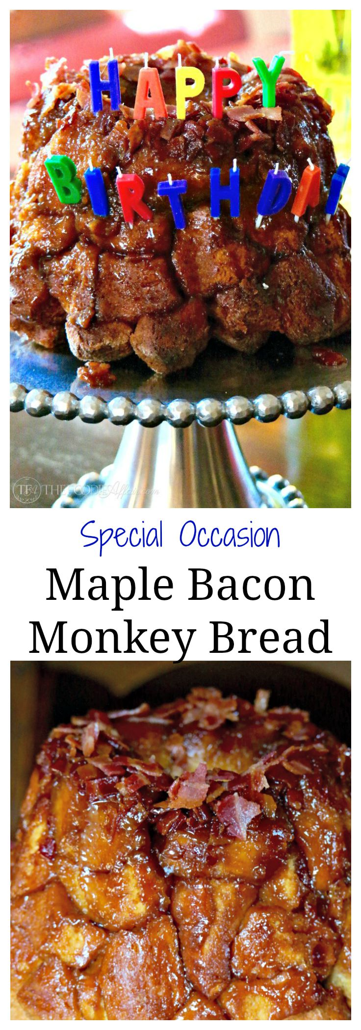 Maple Bacon Monkey Bread oozing with a caramel sticky sauce that is ...