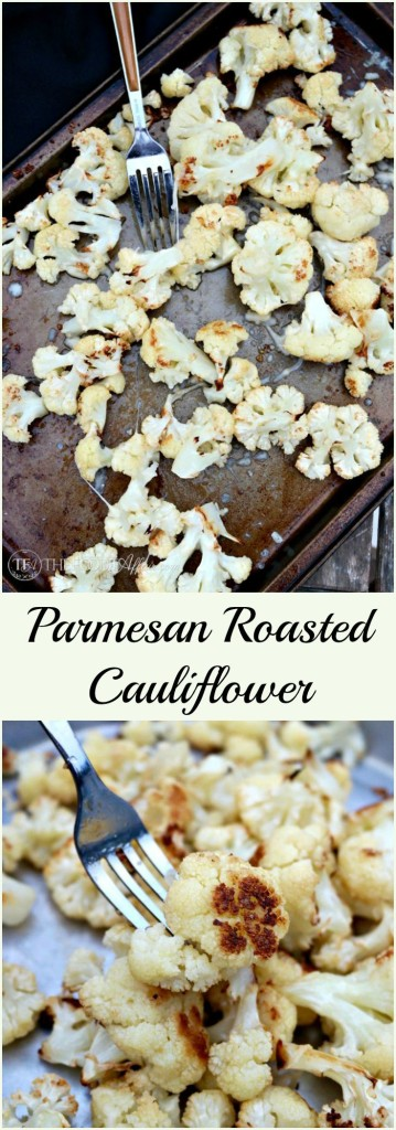 Parmesan roasted cauliflower is a simple and flavorful side dish to any main meal. The slightly nutty flavor is enhanced with a sprinkle of cheese. The Foodie Affair