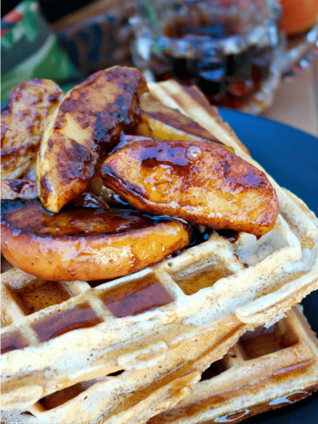 WHOLE WHEAT WAFFLES WITH APPLE SPICE TOPPING STORY