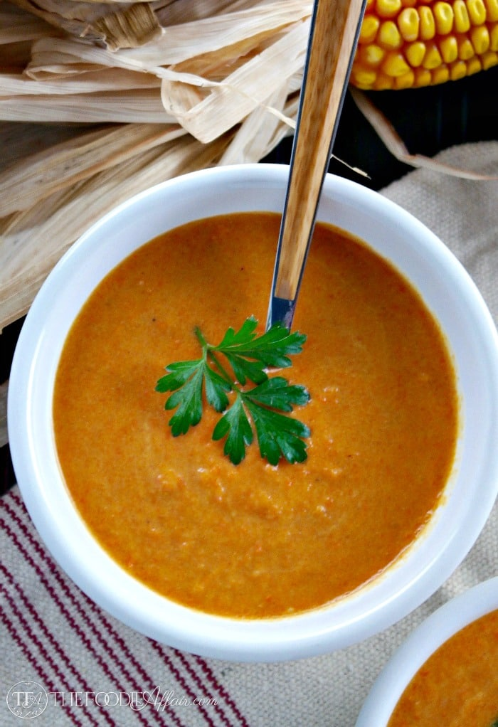 Simple and flavorful vegan Carrot Curry Soup is made with a coconut milk! The Foodie Affair