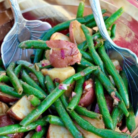 Serve this Green Bean and Potato Salad cold or at room temperature.
