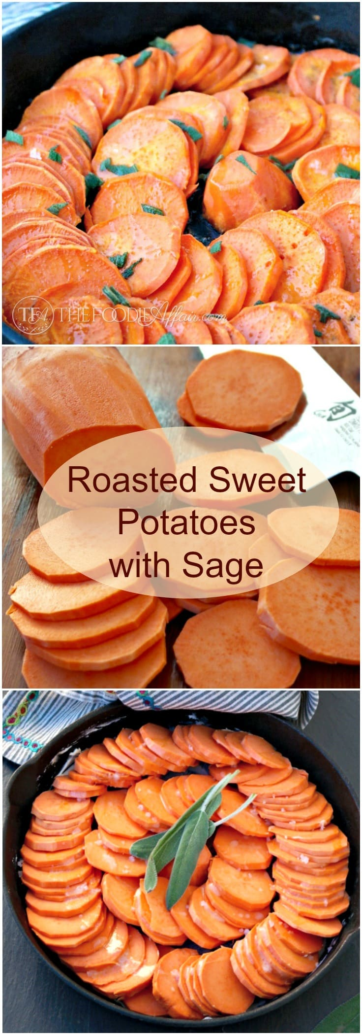 asty roasted sweet potatoes with sage, butter and honey make a ...