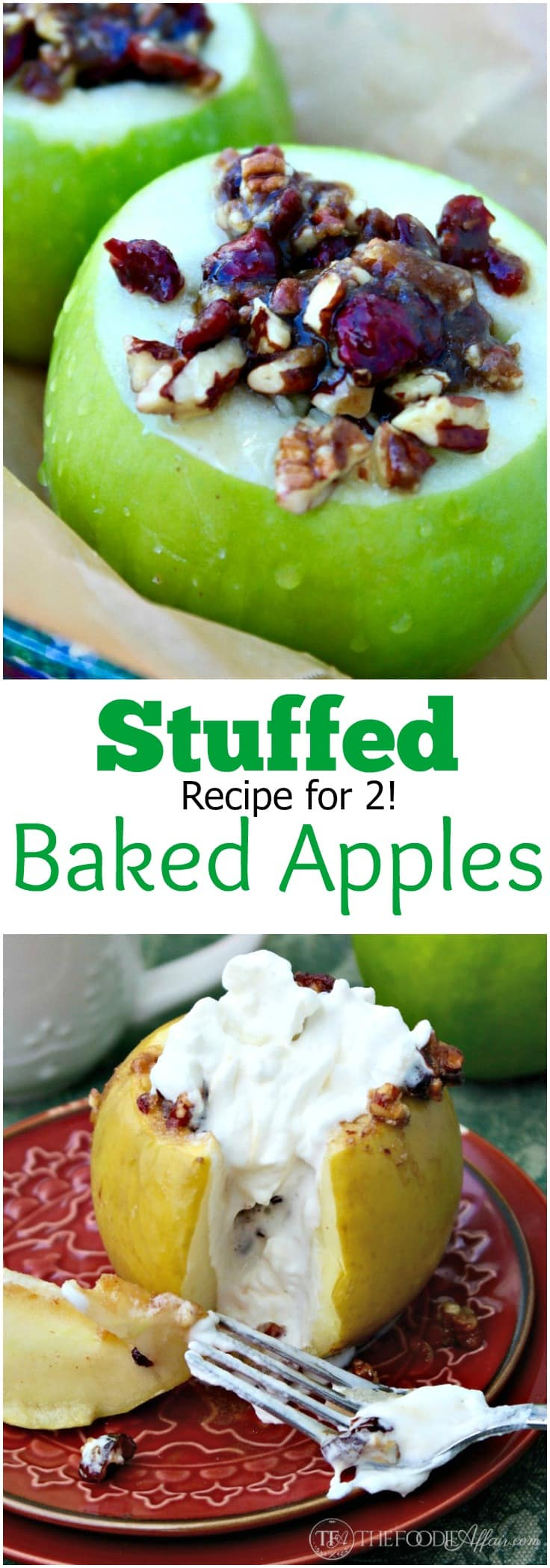 These stuffed baked apples are filled with chopped pecans, cranberries ...