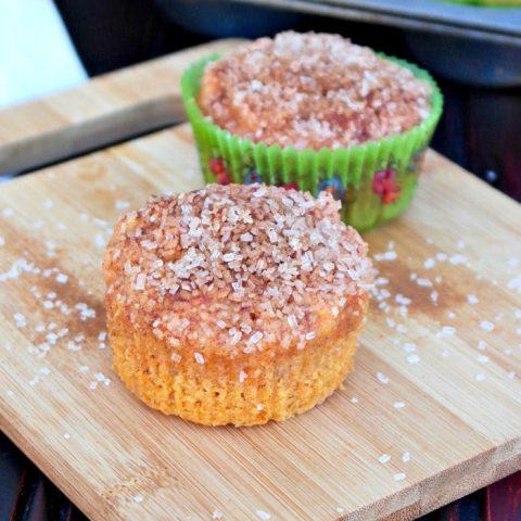 Sweet Potato Muffins on a cutting board