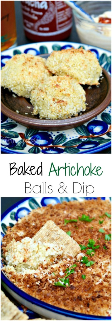 Baked Artichoke Balls are a delicious alternative to the fried appetizer! You can also use the same filling to make a dip! The Foodie Affair