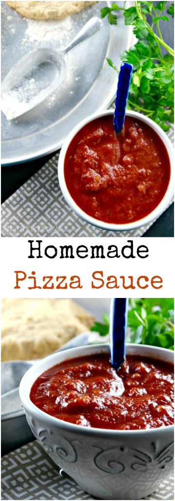 This easy homemade Pizza Sauce Recipe is easy to make and can be used as a dipping sauce for breadsticks too! The Foodie Affair