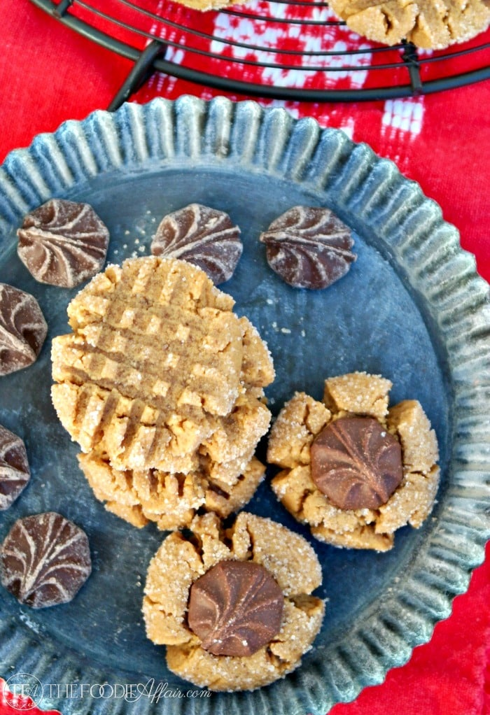 Simple flourless peanut butter cookies. Keep them simple with the traditional criss-cross pattern or add chocolate! The Foodie Affair