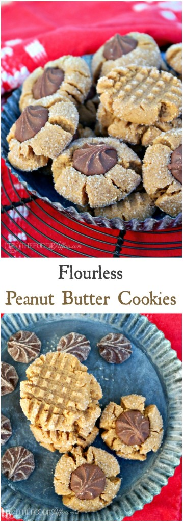 Simple flourless peanut butter cookies. Keep them simple with the traditional criss-cross pattern or add chocolate!! The Foodie Affair
