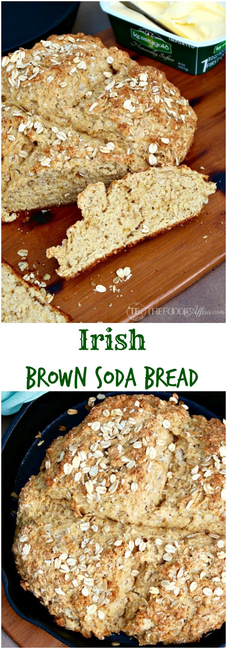 Irish Brown Soda Bread with whole wheat pastry flour, wheat germ, old ...