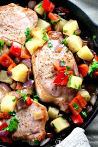 Serve this easy and tasty Sweet & Spicy Pineapple Pork dish is 30 minutes! The Foodie Affair