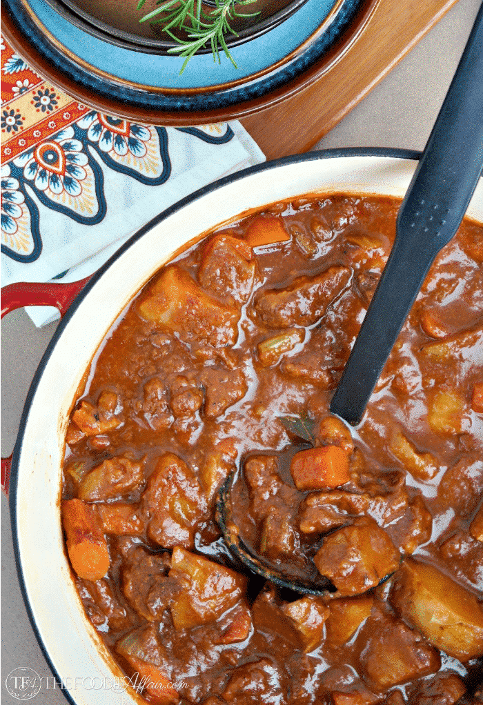 Rich Hearty Beef Stout Stew With Potatoes Carrots And Celery For A Complete Irish Main
