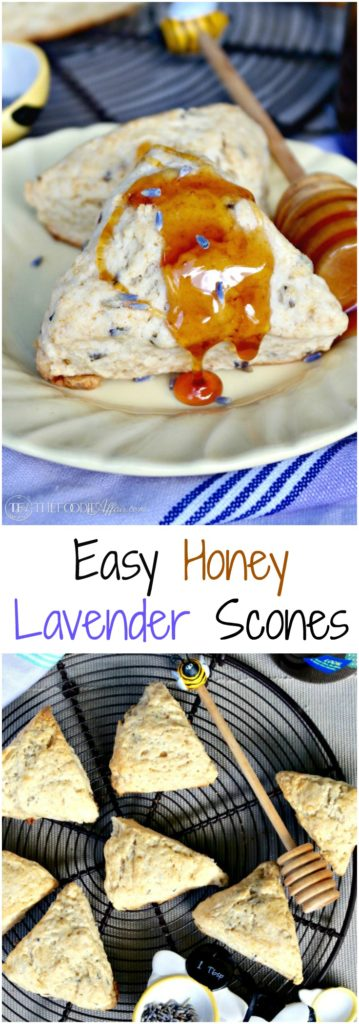 Honey Lavender Scones are simple to make and are a great addition for brunch or any special occasion like a bridal shower! The Foodie Affair