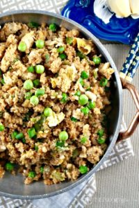 Easy Cauliflower Fried Rice is a low-carb healthy spin on the traditional dish! The Foodie Affair