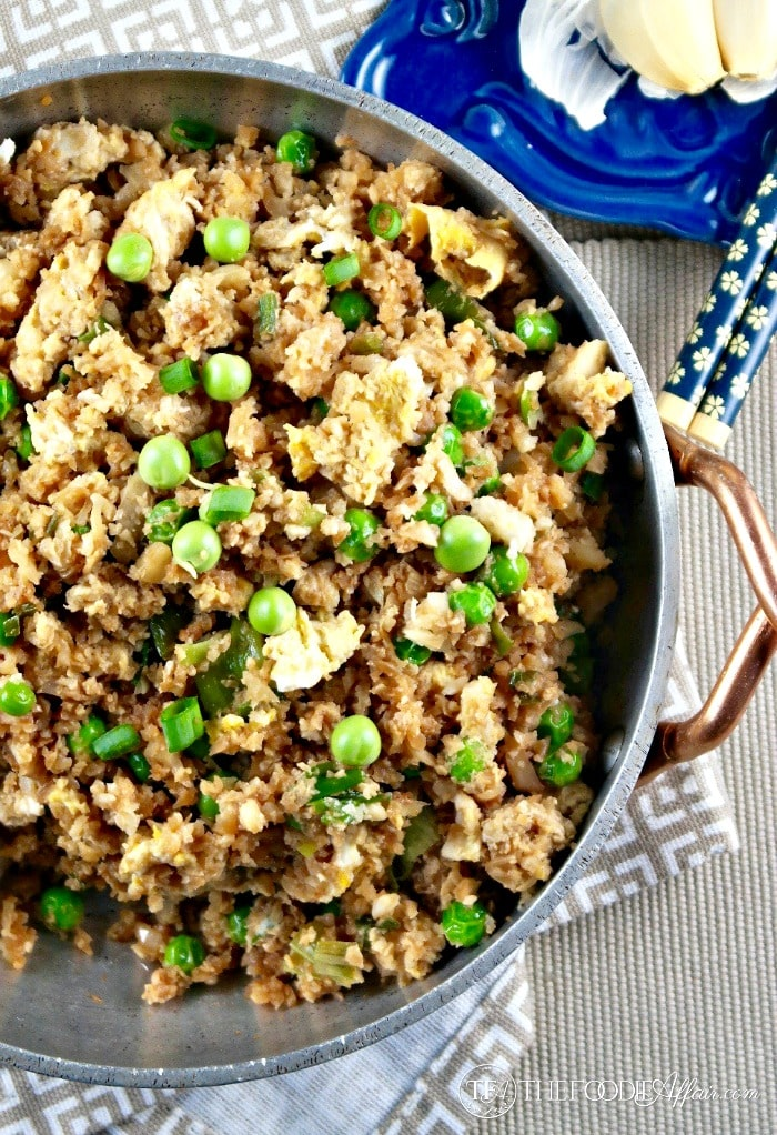 "Easy Cauliflower Fried ""Rice"" 