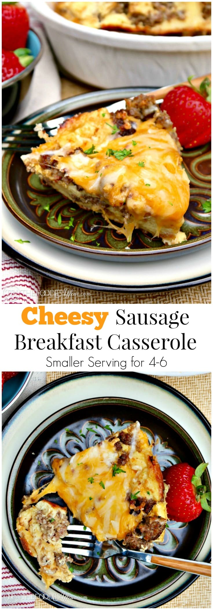 This Cheesy Sausage Breakfast Casserole is the perfect addition to ...
