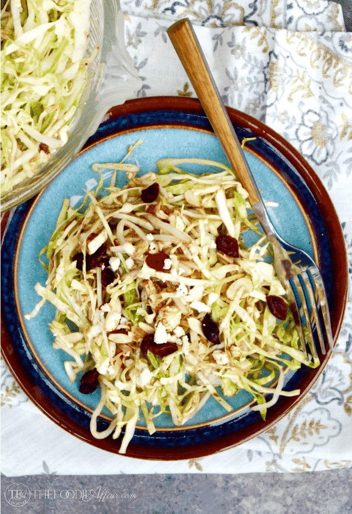 Cabbage Salad Recipe with Bean sprouts and a balsamic dressing